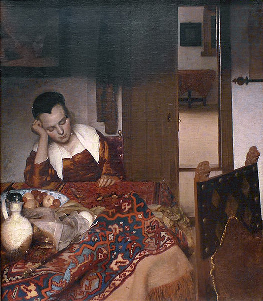 Johannes Vermeer, A Maid Asleep, 1656–57, Metropolitan Museum of Art