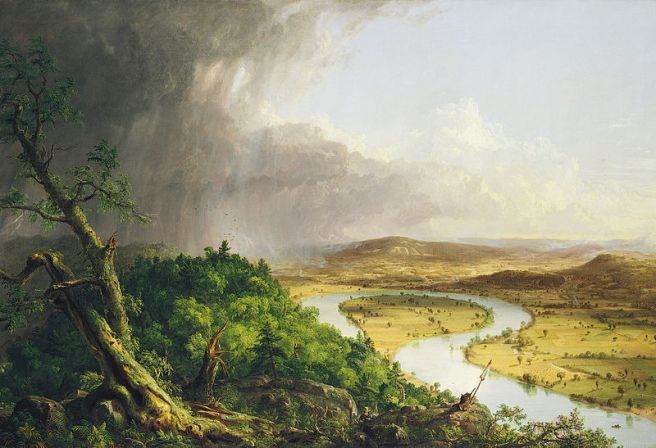 Thomas Cole, View from Mont Holyoke, Northampton, Massachusetts, After a Thunderstorm--The Oxbow, 1836, The Metropolitan Museum of Art