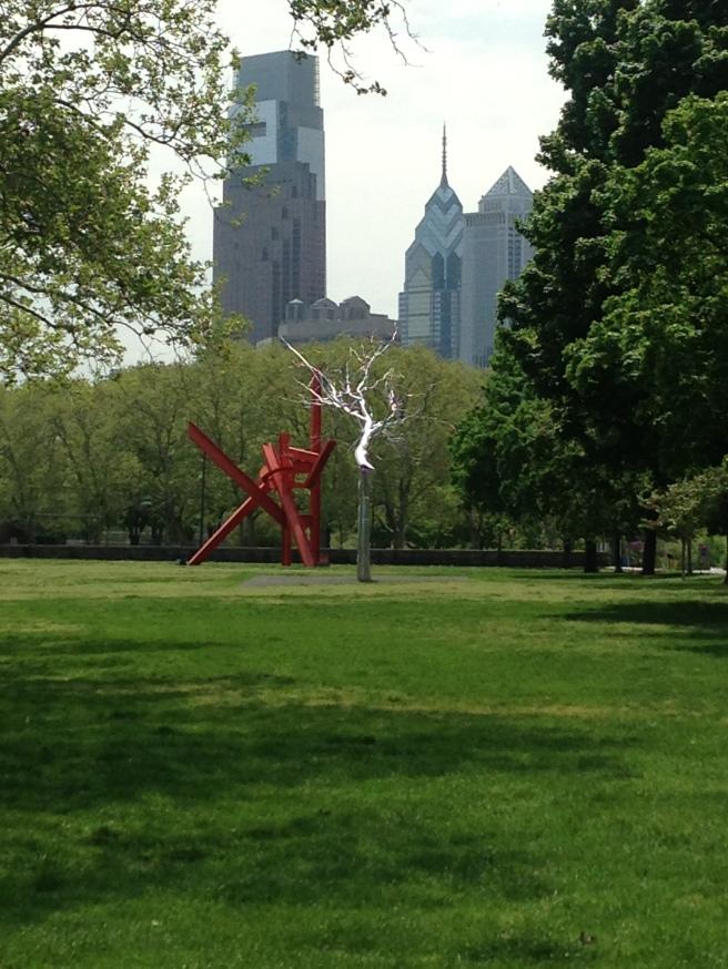 Roxy Paine, Symbiosis, The Benjamin Franklin Parkway, Philadelphia, 2011