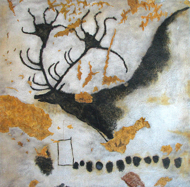 Deer from cave in Lascaux, France, 15,000 BCE