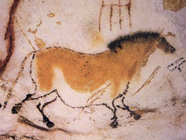 Horse from cave in Lascaux, France, 15,000 BCE