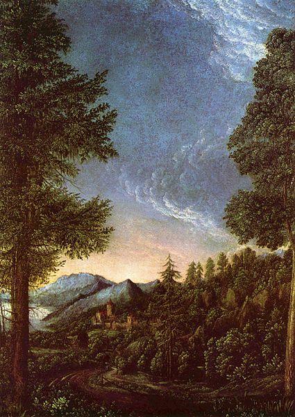 Albrecht Altdorfer, Danube Landscape near Regensburg, 1528