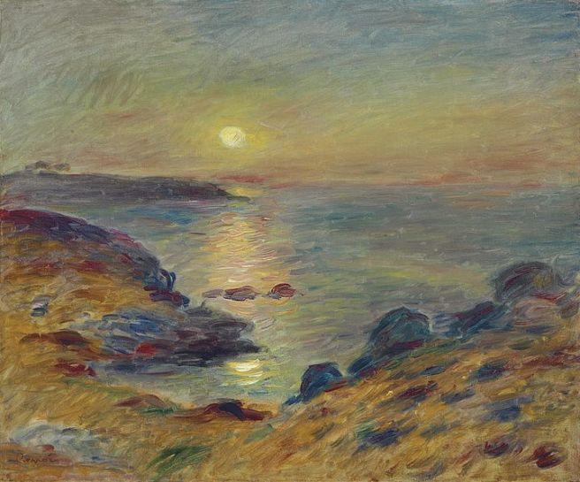 Pierre-Auguste Renoir, Coucher de soleil à Douarnenez, 1883 (via Wikimedia Commons)