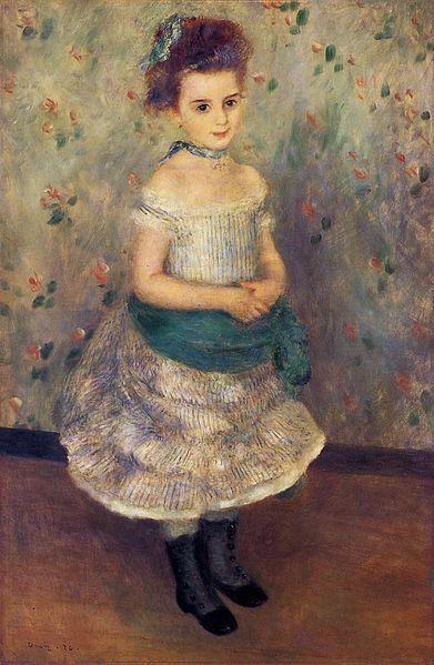 Pierre-Auguste Renoir, Jeanne Durand Ruel, 1876 (via Wikimedia Commons)