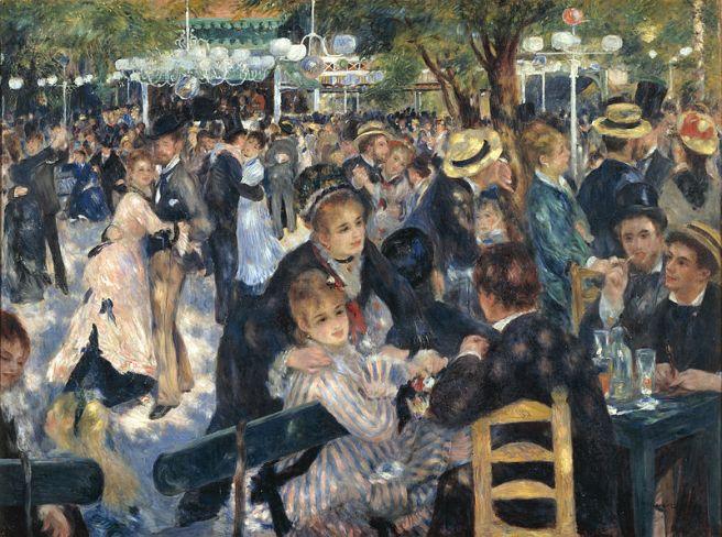 Pierre-Auguste Renoir, Le Moulin de la Galette, 1867 (via Wikimedia Comons)
