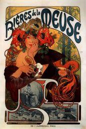 Poster for Bières de la Meuse, lithograph, 1897