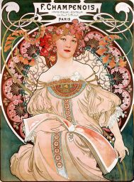 Alphonse Mucha, Reverie, 1897, lithograph