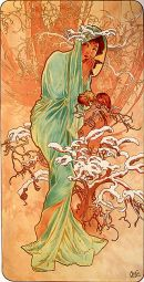 Alphonse Mucha, Winter (from The Seasons), 1896, lithograph