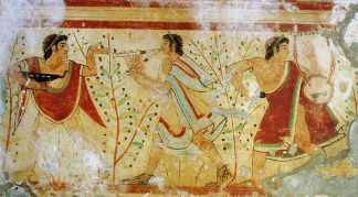 Musicians & Dancers from Tomb of the Leopard