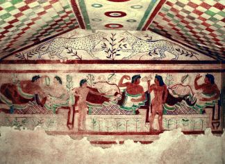 Tomb of the Leopards, Tarquinia, 5th century BCE