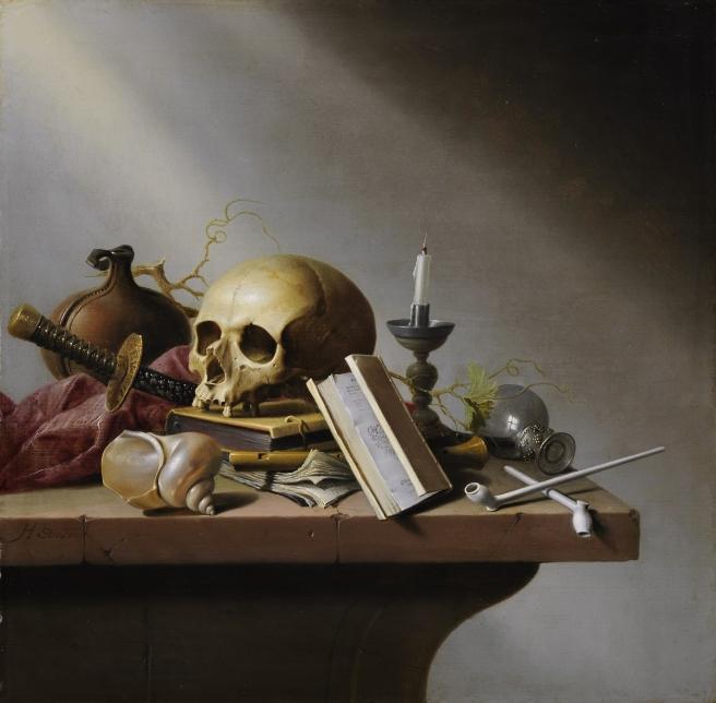 Vanitas still life, by Harmen Steenwijck