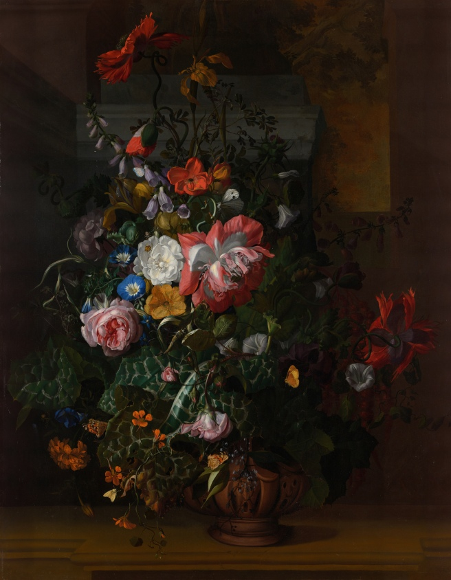 Roses,_Convolvulus,_Poppies,_and_Other_Flowers_in_an_Urn_on_a_Stone_Ledge_-_Rachel_Ruysch_-_Google_Cultural_Institute