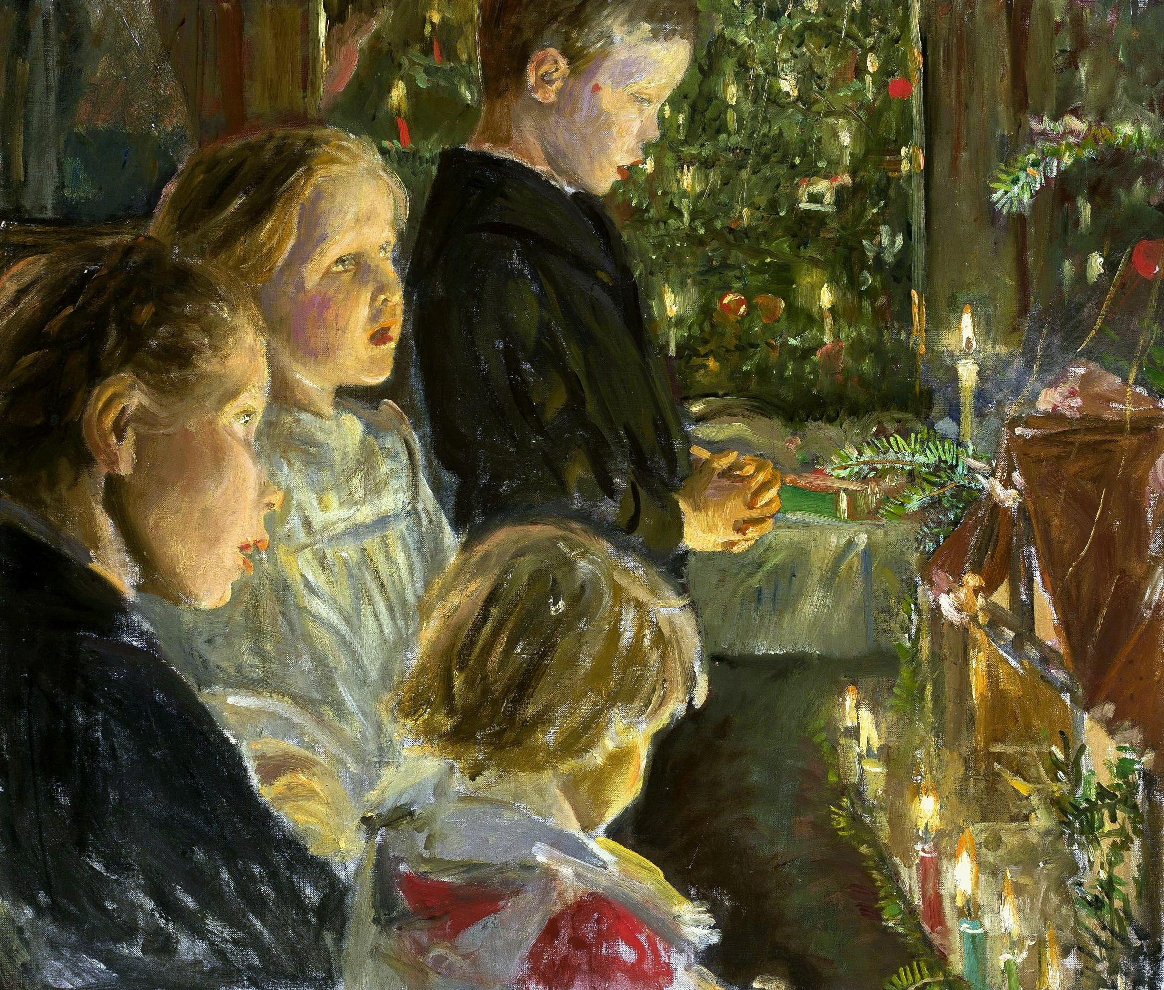 Kalckreuth_Children_by_the_Christmas_tree